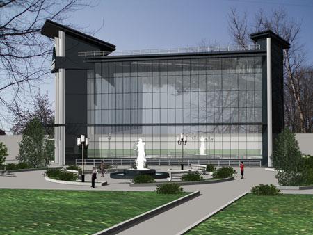 """Центр здоровья """"Тринити"""" Трехмерная визуализация. Проект от архитектурного бюро Дизайн-сервис"""
