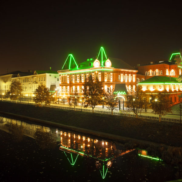 Проект подсветки фасада. Орел, здание Центробанка РФ