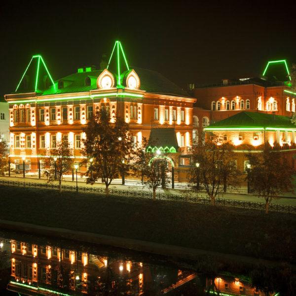Центробанк РФ в Орле. Проект освещения экстерьера