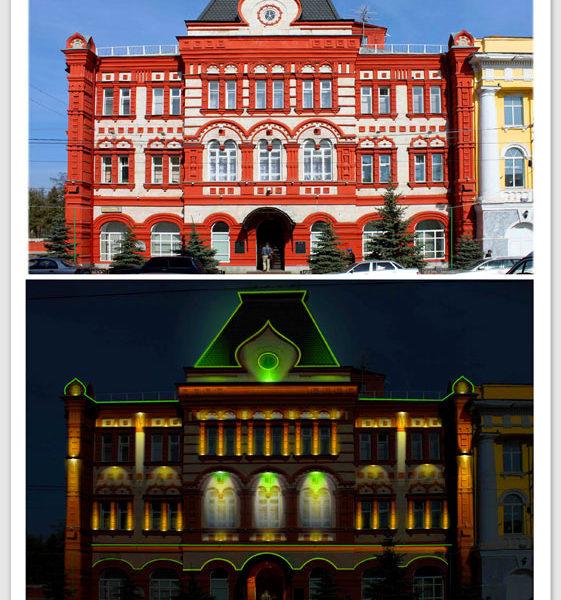 Дизайн-проект архитектурной подсветки здания Центробанка РФ в Орле
