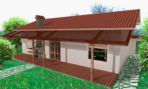 Дачный домик. Дизайн проект.