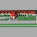 Проект благоустройства фасада и прилегающей территории. Завод Коммаш