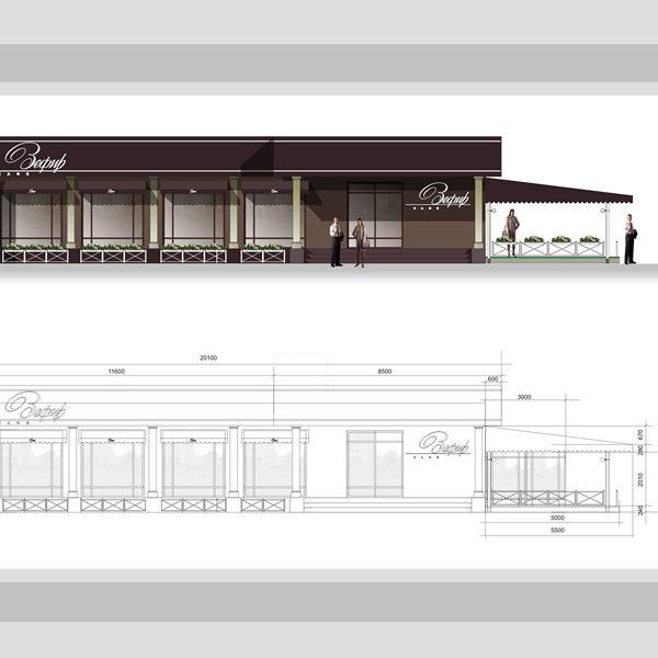 Один из чертежей дизайн-проекта