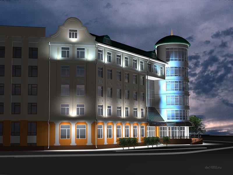 Проект освещения здания пенсионного фонда РФ