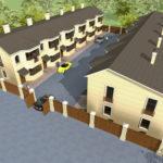 Проект загородного поселка, состоящего из таунхаусов