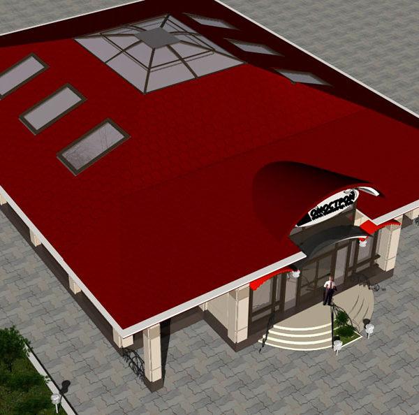 Домострой. Небольшой торговый центр. Дизайн-проект