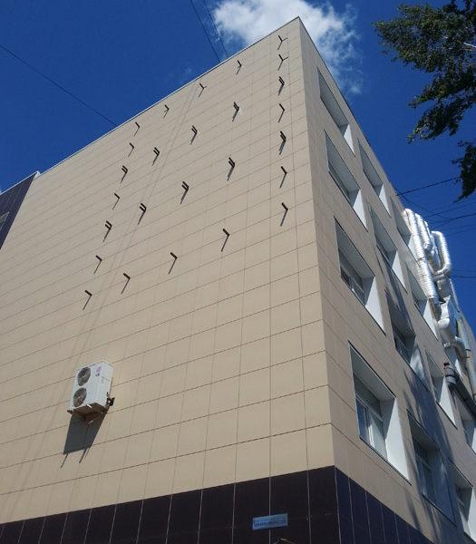 Вентилируемый фасад из керамогранита под ключ