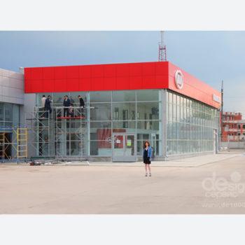 Киа. Вывески, наружная реклама, вентилируемый фасад, рекламные стелы. Дизайн по брендбуку, производство, монтаж под ключ