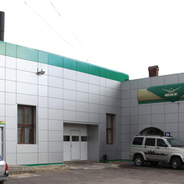 Вентилируемый фасад УАЗ Орел. Производство и монтаж под ключ