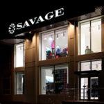 Вывески, витрины, наружная реклама, вентилируемые фасады сети Savage в Орле. Дизайн по брендбуку, согласование, регистрация, производство, монтаж под ключ