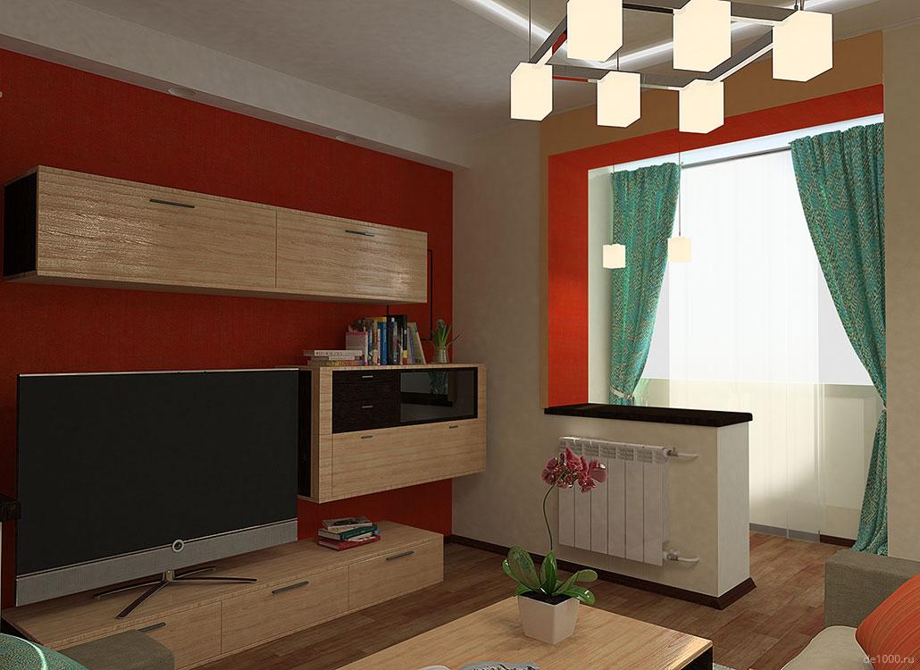 Дизайн интерьера квартиры. Спальня. Трехмерная визуализация