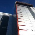 Процесс монтажа вентилируемого фасада
