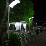 Отражательные светильники производства Дизайн-сервис как элемент оформления фуршетной зоны парк-отеля Мечта в Орле