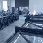 В цеху металлоконструкций Дизайн-сервис