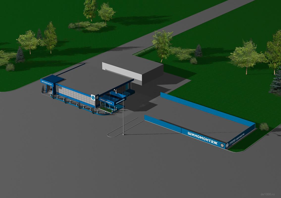 Сервисный центр Камаз в Орле. Дизайн, строительство, отделка под ключ