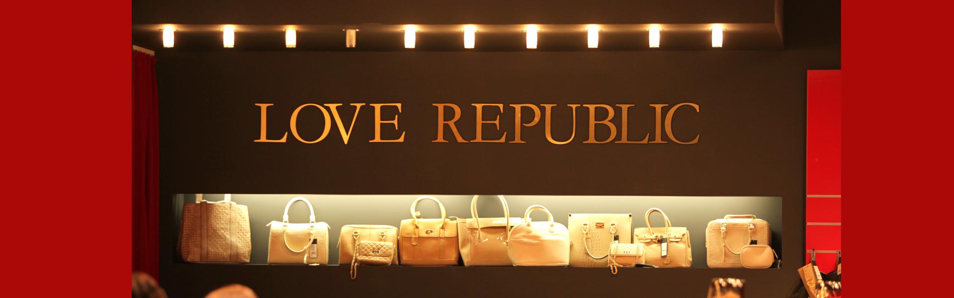 Рекламное оформление стойки рецепции Love Republic
