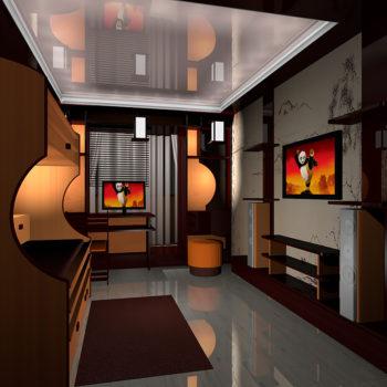Перспектива комнаты. 3Д визуализацияи