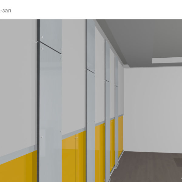 """Визуализация """"стены с ламелями"""""""
